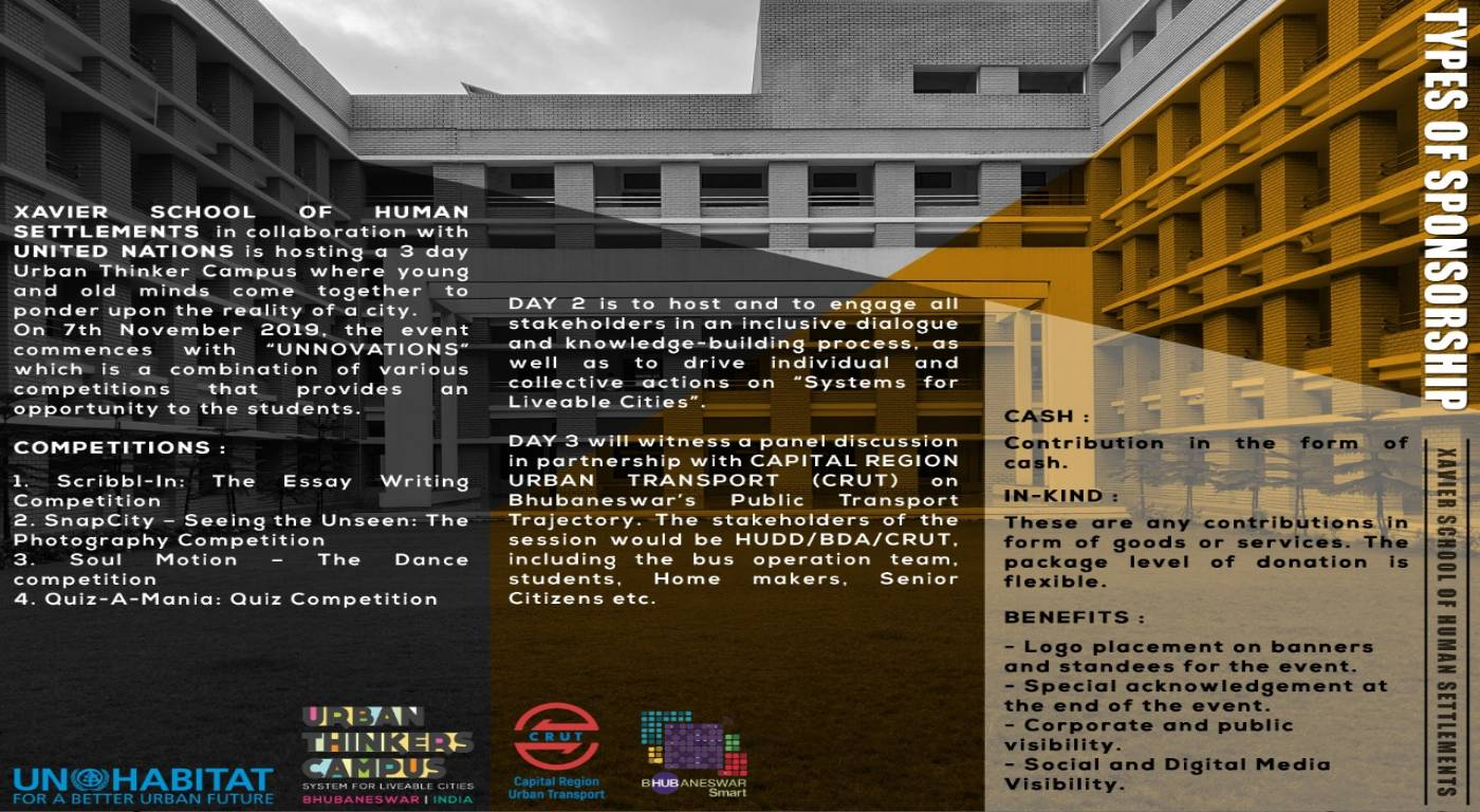 UN Urban Thinkers Campus Unnovations & School of Human Settlements Symposium