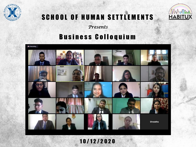 BUSINESS COLLOQUIUM : 10th December 2020