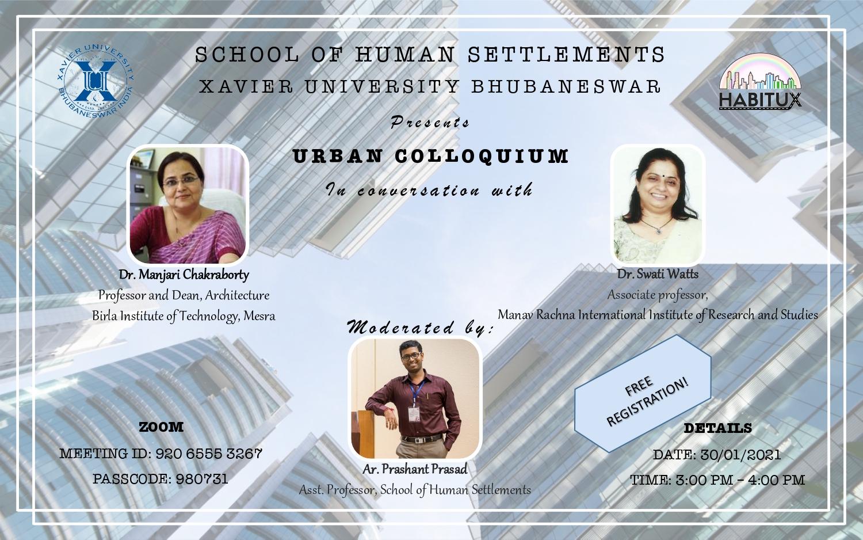 Urban Colloquiums : 30th October, 2021